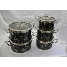 Diseño de moda Juego de ollas de cocina de acero inoxidable