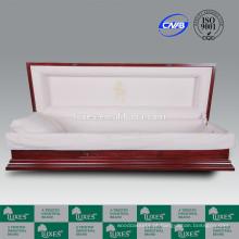 LUXES high-end caixões Bordeaux-última ceia caixão cheio de sofá