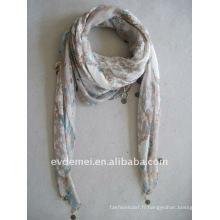 Fashion lady polyester voile scarf square