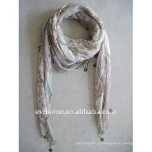 Модная леди полиэфир вуаль шарф квадрат