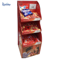 Pappkuchen-Lebensmittelanzeigenregal der hohen Qualität, Papierausstellungsstand für Geschäft