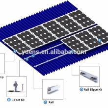 Système solaire en aluminium de support de support de toit de haute qualité