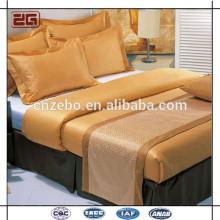 Горячий продавая оптовый подгонянный жаккард король / размер ферзя кровати шарф кровати / бегунок кровати
