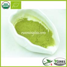 Polvo orgánico del té verde del aroma del jazmín