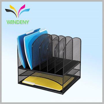 Conjunto de papelaria de escritório Organizador de mesa de malha com 5 secções verticais