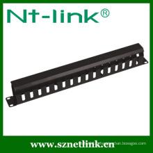 Gestionnaire de câbles de rack métallique Finger