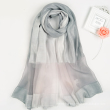Moda elegante colección de mujeres Multi color impresión digital diseño personalizado bufanda de seda cuadrada bufanda de seda turca