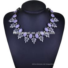 2017 einfache Vintage Goldschmuck Designs Halskette mit schwarzem Diamanten