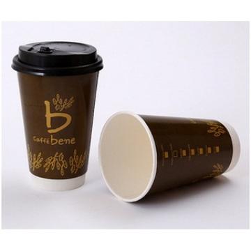 Индивидуальная одноразовая бумага, термоизоляционная чашка, горячая чашка 12 унций
