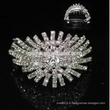 Vente en gros de qualité en cristal Hairgrip Girls Headwear Glitter Rhinestone Barrette