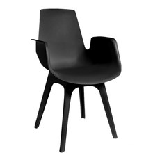 Wholesale cheap furniture  high quality plastic armrest dining chair