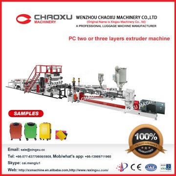 PC zwei Schrauben-Plastikharte Gepäck-Blatt-Extruder-Maschine (Yx-22p)