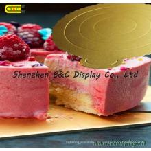 Tableaux ronds de gâteau imperméables avec des bords de fleur pour des magasins de gâteau avec le GV (B & _K064)