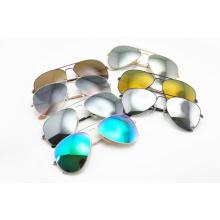 Óculos de sol / óculos de sol clássicos / óculos de sol de metal coloridos
