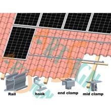 Suporte para telhado de sistema solar em casa