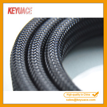 Black Cable Sleeve PET Expandable Braided Sleeving