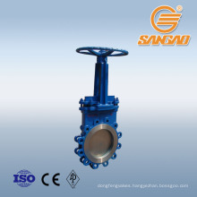 water knife gate valve ss304 pneumatic operated knife gate