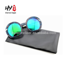 PU material glasses leather bag with low price