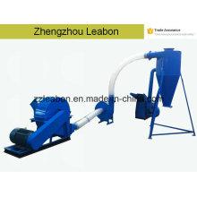 Máquina de aserrín de madera Molino de martillo de la máquina del molino de martillo de la trituradora de la cáscara del arroz con el ciclón