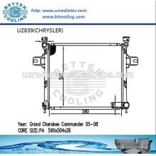 Radiador automotivo para CHRYSLER Grand Cherokee Commander 05-08 fabricante Venda quente