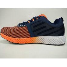 Men′s Classic Orange Black Knitting Gym Shoes