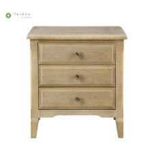 Muebles de dormitorio de nogal claro Mesita de noche de madera