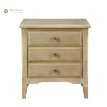 Light Walnut Bedroom Furniture Wood Night Stand