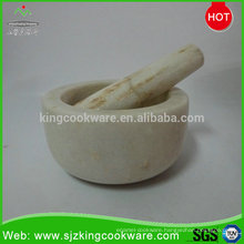 Hot sale marble/granite stone mortar and pestle cutting tools stone morter sets and pestle