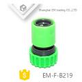 EM-F-B219 Grüner Plastikschlauchverbinder für Garten