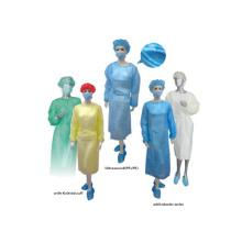 Medizinische gelbe Einweg Isolation Kleid