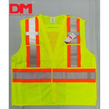 Canada Z96-15 Compliant Class 2 Level 2 Men or Woman Surveyor Orange yellow hi vis Safety Vest