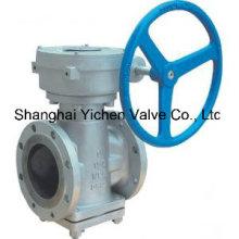 Válvula de enchufe lubricado de funcionamiento del engranaje (YX43)
