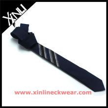 Nouvelles cravates minces de soie de panneau de mode