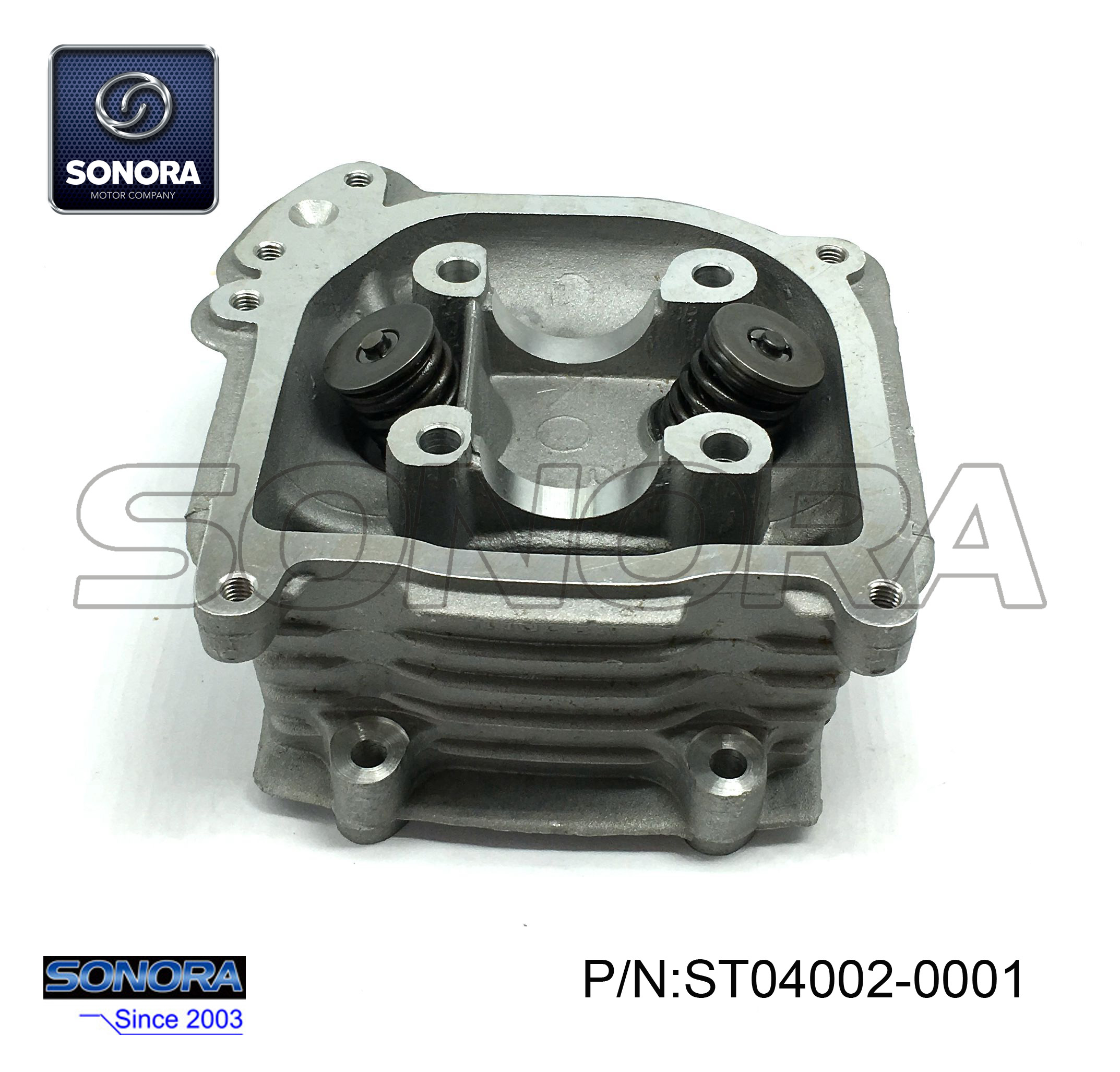 ST04002-0001 GY6-70 139QMAB Cylinder head with valve 47MM,with EGR (1)