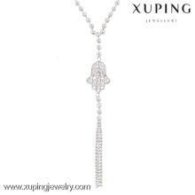 42802-custom jewelry wholesale long hamsa necklace