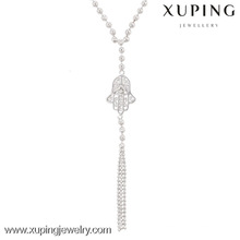 42802-custom jewelry al por mayor collar largo hamsa