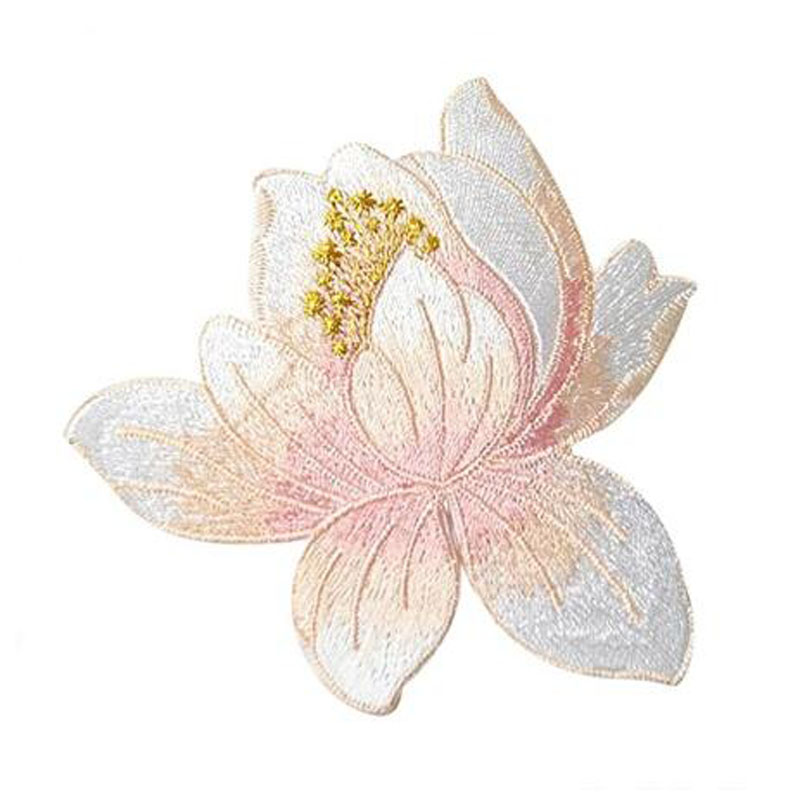 Cute Lotus Clothing Embroidery Patch