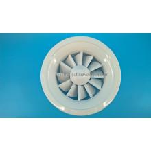 Difusor giratorio de hojas ajustables Difusor de aire redondo de hoja de hierro