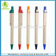 ECO Friendly promotionnel recyclé cadeau stylo avec Clip en bois