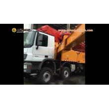 Pompe à béton 52m montée sur camion HB52