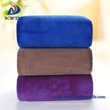 2018 mejor venta de producto 40 * 40 cm toalla de microfibra coral vellón para el lavado de automóviles