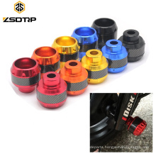 Universal Plastic Carbon Fiber Motorcycle Front Anti Falling Frame Sliders Motocross Crash Pads Anti Collision Cap