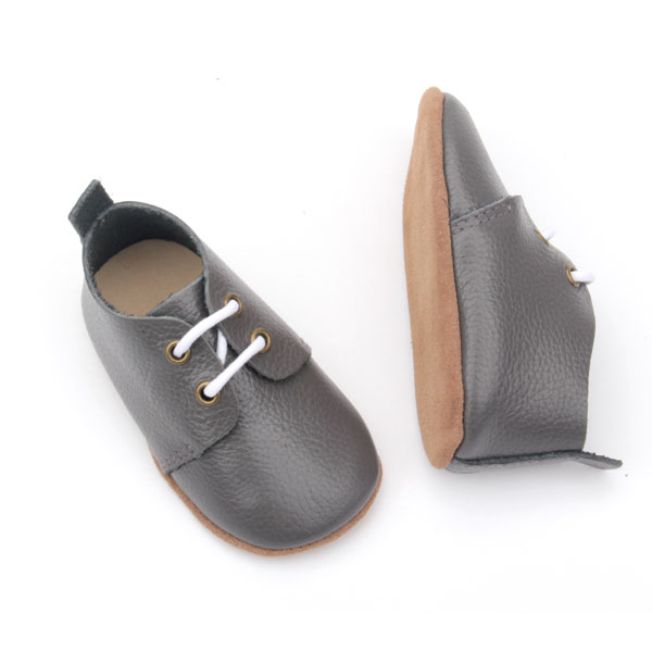 High Quality Soft Sole Skidproof Baby Leather Shoes