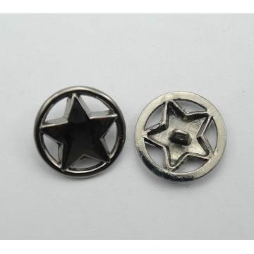 Nouvelle conception personnalisée armée étoiles métalliques boutons de jeans