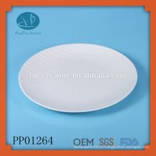 Placa de cerâmica para atacado, prato de prato de servir, placa de pizza, placa de pizza de cerâmica, placa de servir pizza