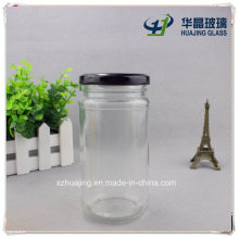 330ml 11oz Cylinder Storage Glass Mason Jar with Metal Cap