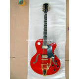 Hollow Body Electric Guitar in Red Color
