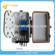 Caixa de distribuição óptica de fibra com conectores 4port SC, caixa de distribuição de divisor de fibra