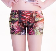 2014 fashion trend sublimation print women lady girl short underwear