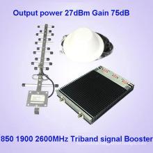CDMA850 PCS1900 4G2600MHz Tri Band zelluläre Signalverstärker